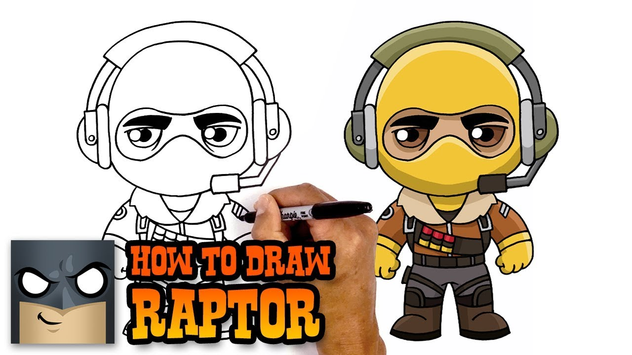 How to Draw Fortnite Raptor YouTube