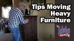 Moving heavy furniture using Furniture Sliders. Moving Furniture Hacks. How to move heavy furniture.