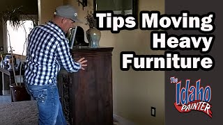 Moving Heavy Furniture Using Furniture Sliders. Moving