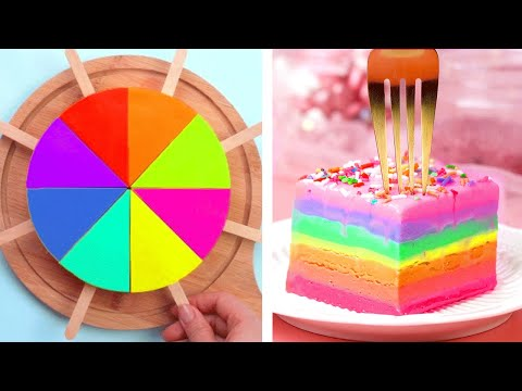 Tasty Colorful Cake Recipe | Most Satisfying Cake Decorating Tutorials | So Yummy Cake Ideas