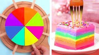 Tasty Colorful Cake Recipe  Most Satisfying Cake Decorating Tutorials  So Yummy Cake Ideas