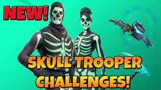 NEW SKULL TROOPER ITEM SHOP (GIVEAWAY AT 1000SUBS) | CHALLENGES UPDATE! | FORTNITE BATTLE ROYALE