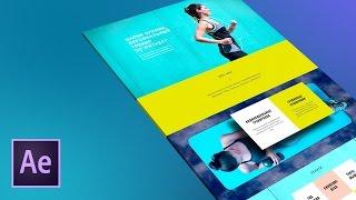 Создаем стильную видео презентацию сайта в After Effects(http://photoshop-master.org/disc138/ - курс