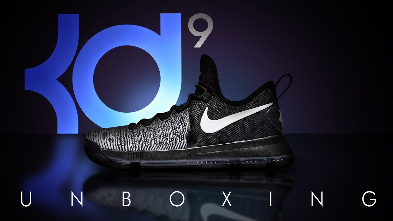 8dfa308360b0 NIKE KD 9 UNBOXING MIC DROP (BLACK AND WHITE   OREOS) ON FEET (Video  05)