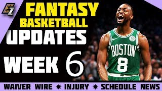 Week 6 Fantasy Basketball Update/Schedule/Waiver Wire Pickups 2019-2020