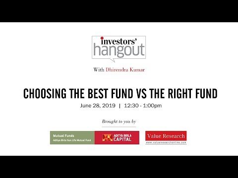 Choosing the best fund vs the right fund - Value Research