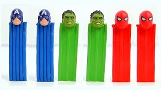 Learning video with superheroes toy colored plasticine wrong head