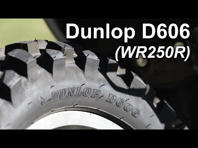 Dunlop D606 Dual Sport Road Review (WR250R)