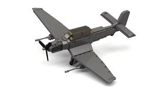 Lego WWII Ju 87 Stuka Dive Bomber Instructions