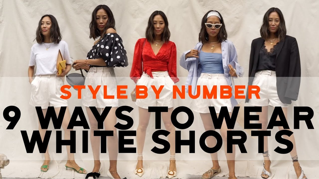 9 Ways to Wear White Shorts   Style by Number   Song of Style Collection   Aimee Song 6