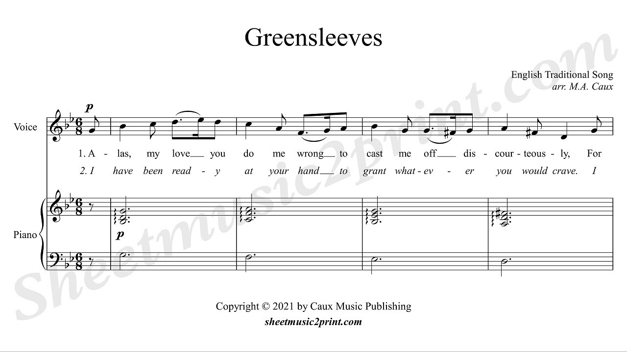 Songs In D Minor : greensleeves voice 2 6 high g minor youtube ~ Hamham.info Haus und Dekorationen