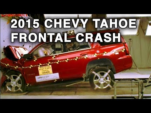 2015 Chevy Tahoe GMC Yukon Frontal Crash Test CrashNet1