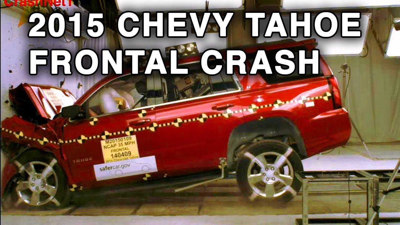 2014 Chevy Tahoe >> 2015 Chevy Tahoe / GMC Yukon | Frontal Crash Test | CrashNet1 - YouTube