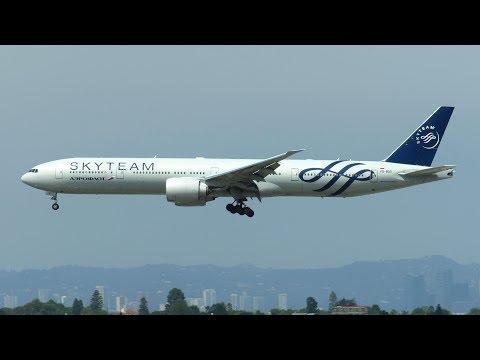 Aeroflot Boeing 777-300ER SKYTEAM [VQ-BQG] Landing at Los Angeles LAX Airport! [Full HD]
