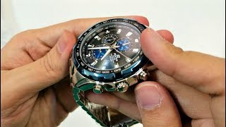 beautiful Casio Edifice chronograph watch EF-539D-1A2 unboxing