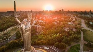 kyiv from a drone in 4k