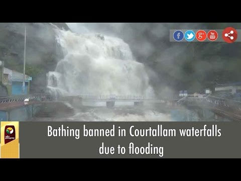Bathing banned in Courtallam waterfalls due to flooding
