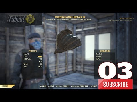 Fallout 76 [Legendary Finds] Bolstering Leather Right Arm #3