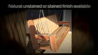 Tmp Outdoor Furniture High Back Red Cedar Porch Swing