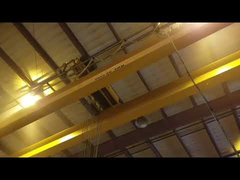Kone Top Riding Double Girder Bridge Crane 25 Ton x 45' Stock #8396 Troy