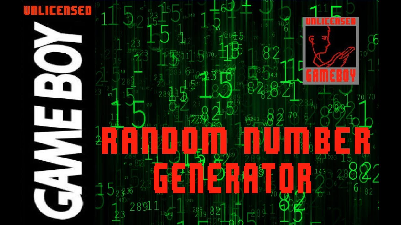 RANDOM NUMBER GENERATOR「RAND」FOR GAMEBOY - GBDK: Game Boy C ...
