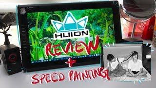 HUION GT-185 REVIEW + Speed Painting