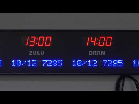 BRG Precision Product's 6637G-R18B - 8 Zone, Fixed Zone, Time Zone Clock Display