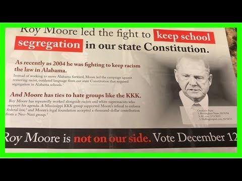 Democratic campaign flyer compares roy moore to george wallace, says he supports segregation