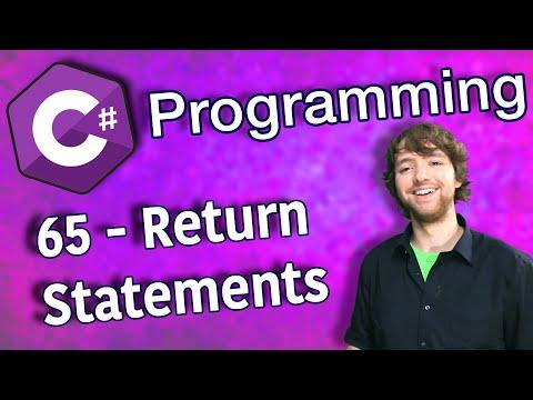 C# Programming Tutorial 65 - Return Statements thumbnail
