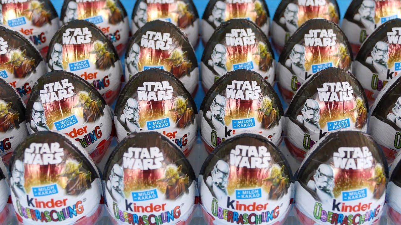 Star Wars Kinder Surprise Eggs Toys From Star Wars Movie 2016 Youtube