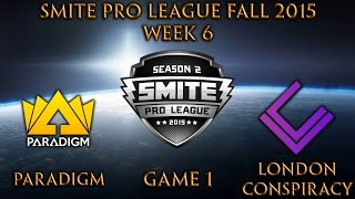 SPL Fall Week 6 - Paradigm vs. London Conspiracy (Game 1)