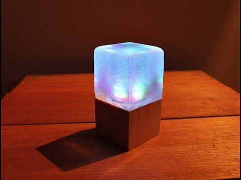 LED Resin Cube Lamp