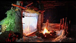 Building a Bushcraft Shelter - Episode 6 - Door and Super Shelter