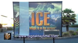 Stunning Daytime Projection demonstration uncovers the truth about projection screens.