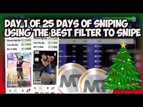 NBA2K19 25 DAY OF SNIPING EPI 1 - TONS OF SNIPES, MT MADE AND USING THE BEST SNIPE FILTER TO MAKE MT