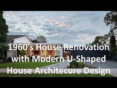 1960's House Renovation with Modern U Shaped House Architecure Design