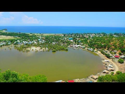 View on Tasitolu, Dili from the mountain in the rainy season, Timor Leste 03.2016