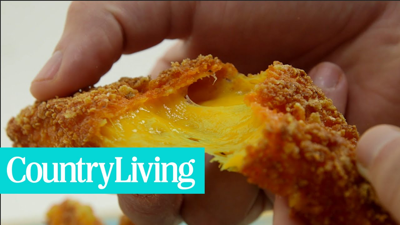 How To Make Fried Cheese Stuffed Doritos | Country Living - YouTube