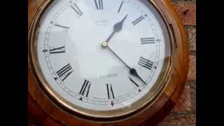 Smith Wall Clock  Inside The Wooden Case Small Moder Battery Movement