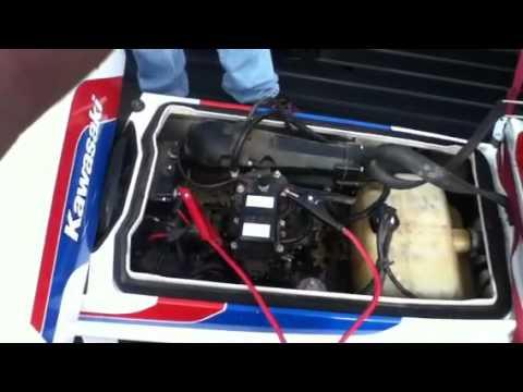 1986 Kawasaki JS 300 stand-up jetski start-up - YouTube