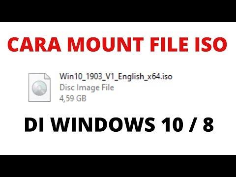 Cara Mount File ISO Di Windows 10, Windows 8