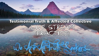 Affected Collective & Testimonial Truth First Ever LIVE STREAM CHAT Practice w/Diane, Kat, & James