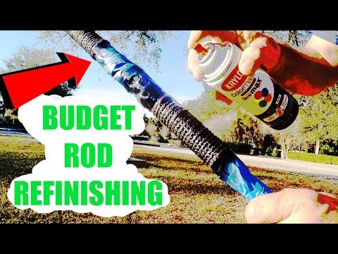 Affordable Fishing Rod Refinishing At Home, Budget Remodeling (DIY)