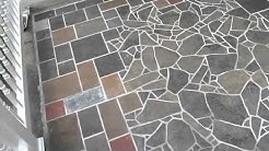 slate & tile mosaic patio in Albany