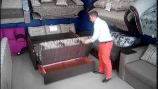 Диван Анна, мебель Львов, Киев(Модель мини-дивана, представлена выездным механизмом с дополнительным ящиком для белья, компактная и не..., 2015-07-28T12:50:42.000Z)