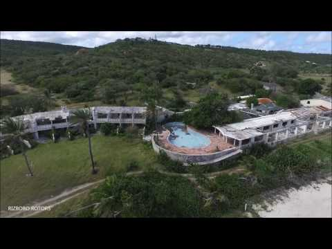 Abandoned Half Moon Bay Hotel - Antigua - Aerial View