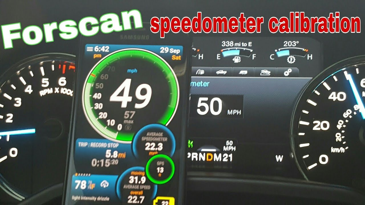 Forscan ford f150 speedometer calibration due to larger tires size