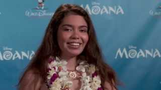 Moana: Auli'i Cravalho Casting Announcement Press Conference & Interviews