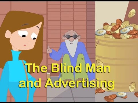 The Blind Man and Advertising  Moral Stories in English