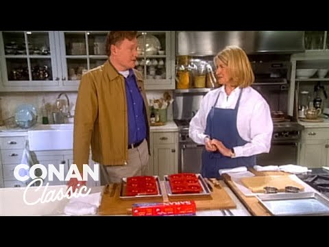 "Conan Visits The Set Of ""Martha Stewart Living"" - ""Late Night With Conan O'Brien"""